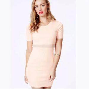 MISSGUIDED Bodycon Dress Clubwear Nude Blush 2